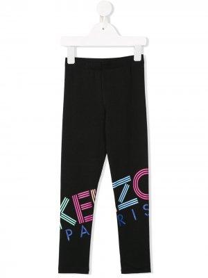 Спортивные брюки с логотипом Kenzo Kids. Цвет: черный