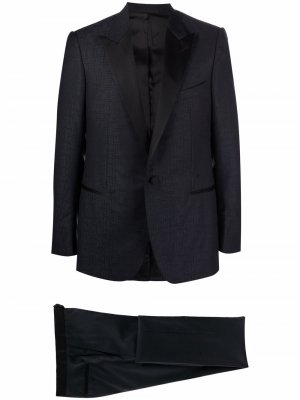 Жаккардовый костюм с однобортным пиджаком LANVIN. Цвет: синий