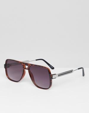 Черепаховые солнцезащитные очки в квадратной оправе Orbital-Коричневый Spitfire
