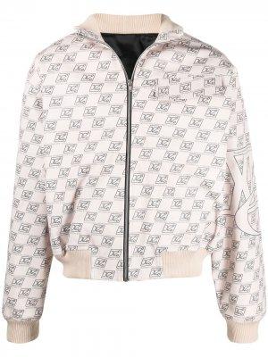 Куртка-бомбер с монограммой Xander Zhou. Цвет: нейтральные цвета