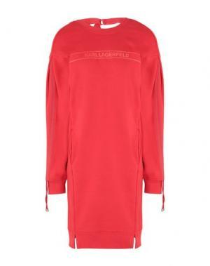 Короткое платье KARL LAGERFELD. Цвет: красный