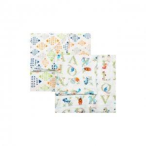 Комплект из двух пеленок Aden+Anais. Цвет: белый