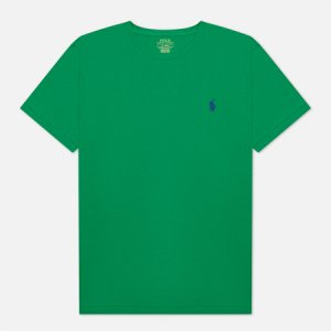 Мужская футболка Classic Crew Neck 26/1 Jersey Polo Ralph Lauren. Цвет: зелёный