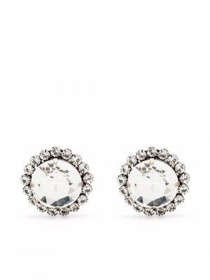 Crystal halo earrings Alessandra Rich. Цвет: серый