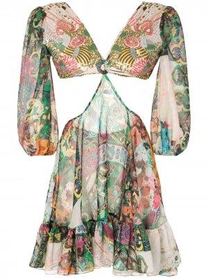 Платье Ziya с цветочным принтом Alexis. Цвет: разноцветный