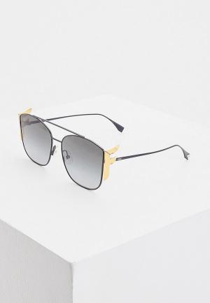 Очки солнцезащитные Fendi FF 0380/G/S 807. Цвет: черный