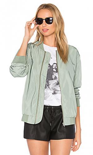 Куртка бомбер mako Obey. Цвет: серовато-зеленый