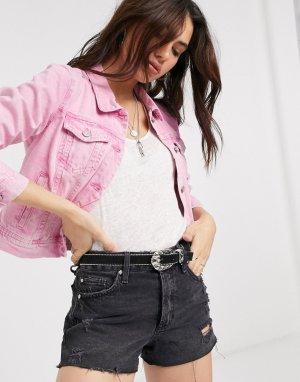 Джинсовая куртка -Розовый Free People