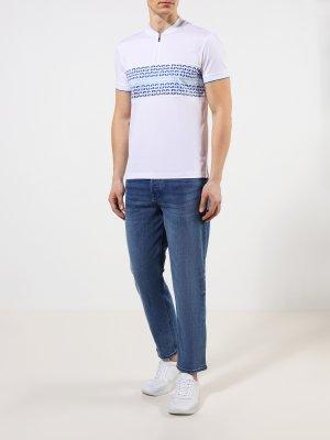 Зауженные джинсы Tempe BOSS. Цвет: siniy