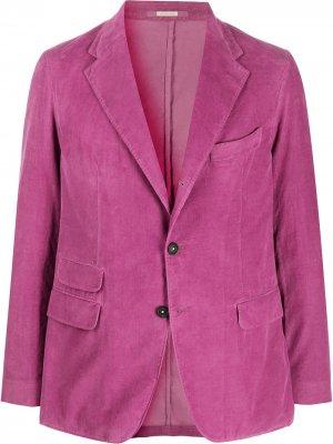 Вельветовый пиджак Massimo Alba. Цвет: фиолетовый