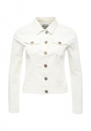 Куртка джинсовая Frank NY. Цвет: белый