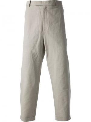 Укороченные брюки Kris Van Assche. Цвет: телесный