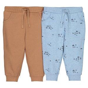 2 штанишек LaRedoute. Цвет: каштановый