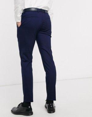 Костюмные брюки из эластичной шерсти Pittsburgh-Темно-синий Calvin Klein