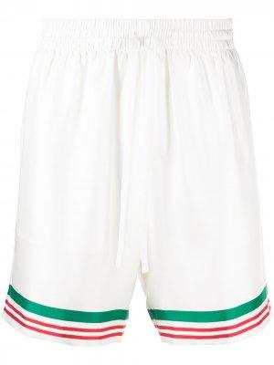 Шорты Tennis с полосками Casablanca. Цвет: белый