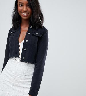Укороченная джинсовая куртка -Черный Parisian Tall