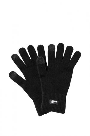 Перчатки Knit Gloves Puma. Цвет: синий