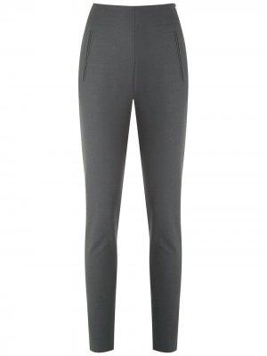 Трикотажные брюки Gloria Coelho. Цвет: серый