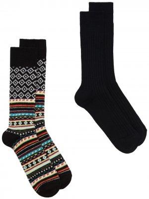 Комплект носков ANONYMOUS ISM. Цвет: черный