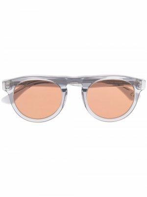 Солнцезащитные очки Racer Retrosuperfuture. Цвет: серый