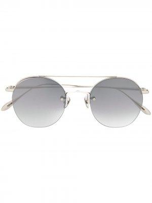 Солнцезащитные очки в круглой оправе EQUE.M. Цвет: золотистый