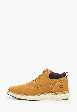 Ботинки Timberland Cross Mark PT Chukka WHEAT. Цвет: желтый