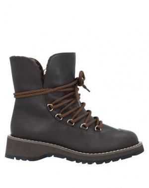 Полусапоги и высокие ботинки MAX MARA. Цвет: темно-коричневый