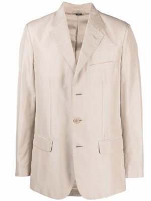 Однобортный пиджак 1990-х годов Helmut Lang Pre-Owned. Цвет: нейтральные цвета