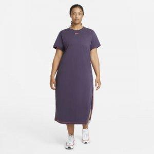 Платье-макси Sportswear Icon Clash (большие размеры) - Пурпурный Nike