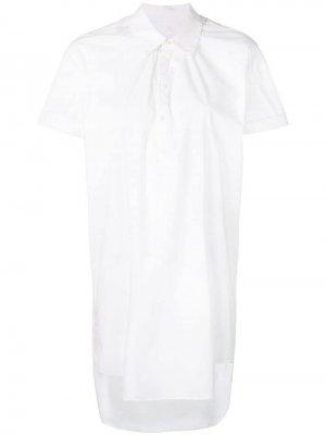 Блузка с короткими рукавами и драпировкой A.F.Vandevorst. Цвет: белый