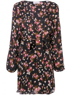 Короткое платье с запахом и цветочным принтом A.L.C.