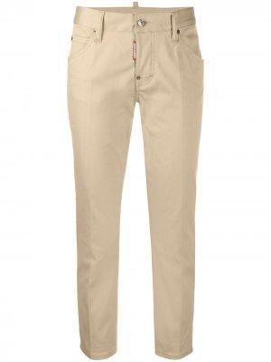 Укороченные брюки чинос прямого кроя Dsquared2. Цвет: нейтральные цвета