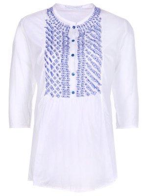 Хлопковая блуза ERMANNO SCERVINO