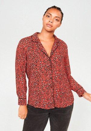 Блуза Violeta by Mango - PRINTY6. Цвет: красный