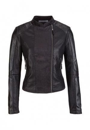 Куртка кожаная s.Oliver Premium. Цвет: черный