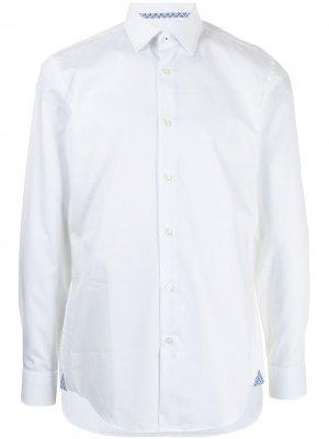 Рубашка с длинными рукавами BOSS. Цвет: белый