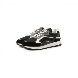 Комбинированные кроссовки Bogner. Цвет: чёрный