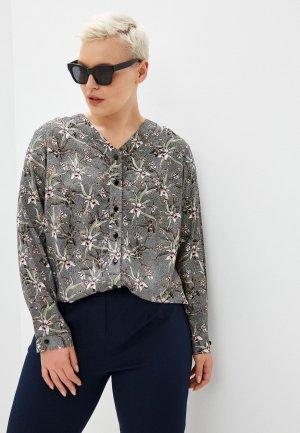 Блуза Horosha. Цвет: серый