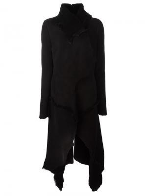 Pointy long coat 10Sei0otto. Цвет: чёрный