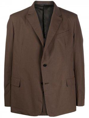 Однобортный пиджак Valentino. Цвет: коричневый