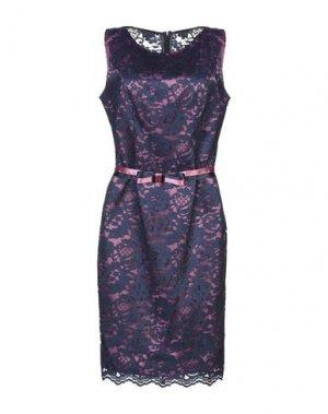 Платье до колена CASTING. Цвет: темно-синий