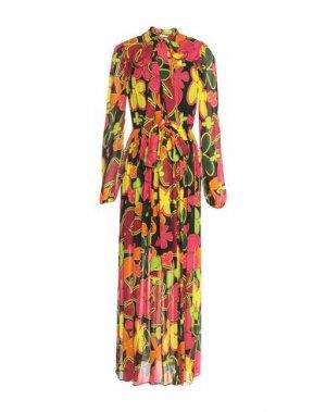 Длинное платье I'M ISOLA MARRAS. Цвет: пурпурный