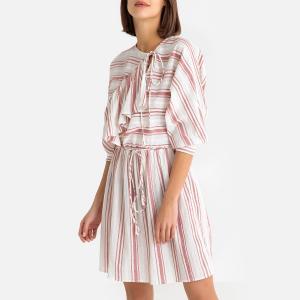 Платье короткое в полоску SERIFOS MINIDRESS ANTIK BATIK. Цвет: красный