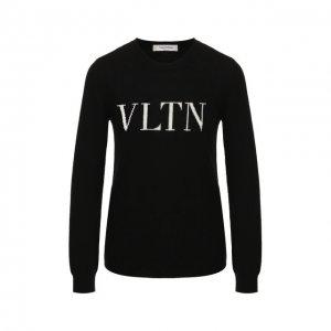 Пуловер из смеси шерсти и кашемира Valentino. Цвет: чёрно-белый