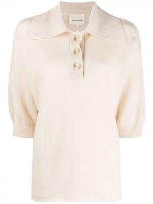 Трикотажная рубашка поло с короткими рукавами Loulou Studio. Цвет: нейтральные цвета