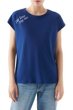Футболка Short Sleeve Top Mavi. Цвет: синий