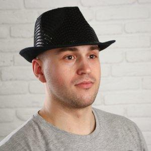 Шляпа с блеском, узкие поля, р-р 56-58 Страна Карнавалия