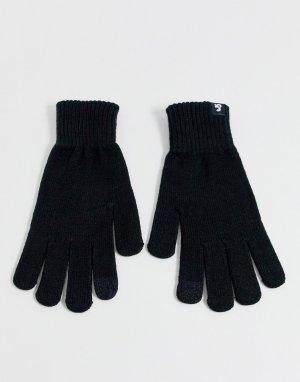 Черные перчатки для сенсорных устройств -Черный Jack & Jones