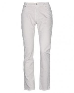 Джинсовые брюки LIST. Цвет: светло-серый