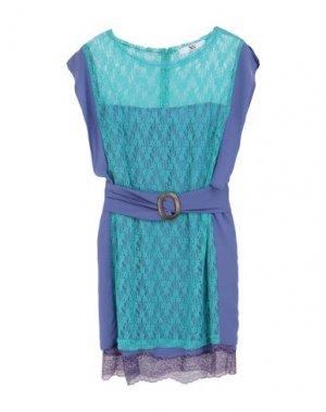 Короткое платье X'S MILANO. Цвет: небесно-голубой